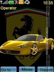 Yellow Sport Car theme screenshot