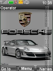 Porsche tema screenshot