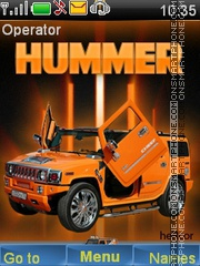 Orange Hummer theme screenshot