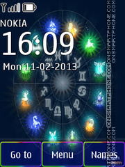 Zodiac Signs tema screenshot