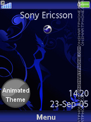 Blue Sony Ericsson theme screenshot