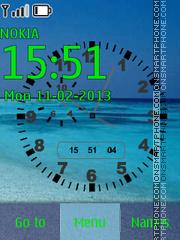 Sea Clock theme screenshot