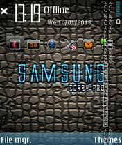 Samsung theme screenshot