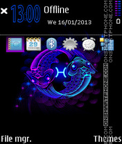 Pisces Neon tema screenshot