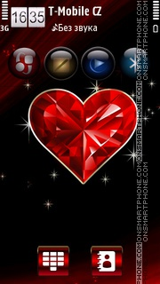 Diamond Love HD v5 es el tema de pantalla