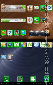 Icon light green es el tema de pantalla