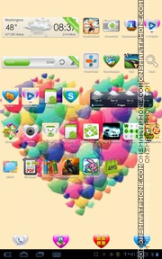 3D Heart 01 tema screenshot
