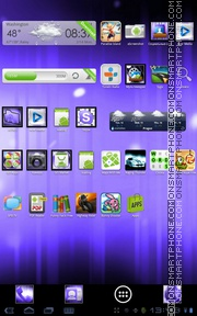 Purple ICS theme screenshot