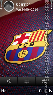 Barca tema screenshot