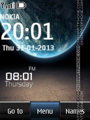 Galaxy Digital Clock theme screenshot