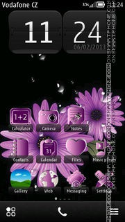 Purple Daisy Flowers theme screenshot
