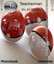 3D Pokemon Balls theme screenshot