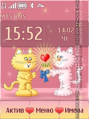 Cats in Love theme screenshot