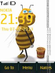 Animated Bee 01 tema screenshot