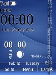 Live Blue Clock theme screenshot