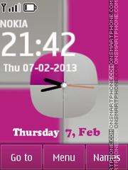 Pink vs White theme screenshot