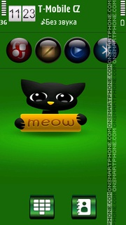 Cute Cat HD v5 es el tema de pantalla