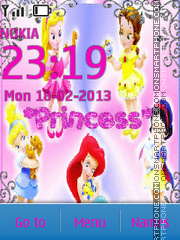 Disney princess babies theme screenshot