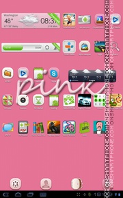 Sweet Pink tema screenshot
