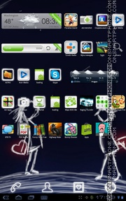 Neon Forever Love tema screenshot