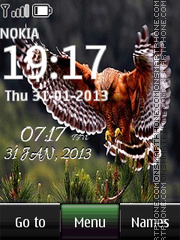 Eagle Digital Clock 01 theme screenshot