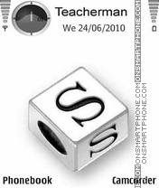 Скриншот темы Letter S Cube