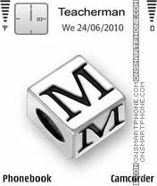Скриншот темы Letter M Cube