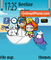 Cowco y Friends theme screenshot