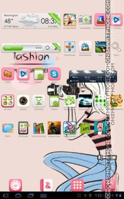 Pink Fashion Girly theme screenshot