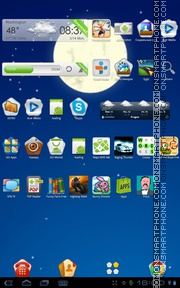 Night Sky 01 theme screenshot