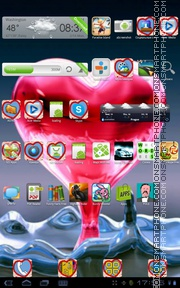 Heart One tema screenshot