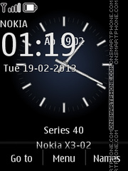 Arte Clock theme screenshot