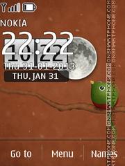 Ubuntu New Clock theme screenshot