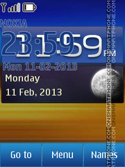 Samsung Galaxy Widget theme screenshot
