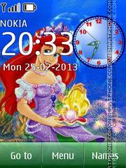 Скриншот темы The Little Mermaid Ariel