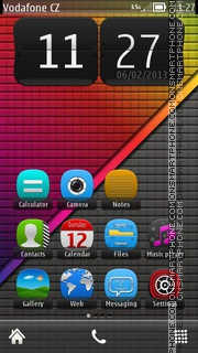 Rainbow 13 theme screenshot