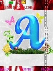 Letter A & D es el tema de pantalla