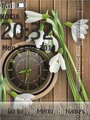 Flowers Clock Theme-Screenshot