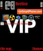 Capture d'écran Vip thème