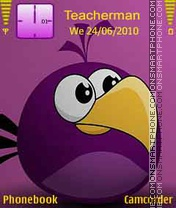 Violet Angry Bird theme screenshot