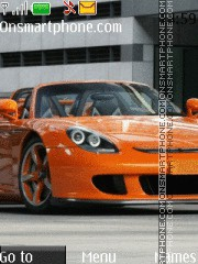 Orange Car 02 theme screenshot