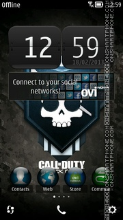Black Ops theme screenshot