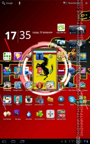 Ferrari Live Wallpaper theme screenshot