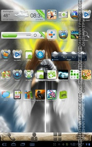 Free Angel theme screenshot