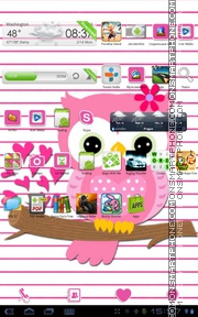 Hot Pink Valentine Theme tema screenshot