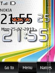 Nokia Big Digital Clock es el tema de pantalla
