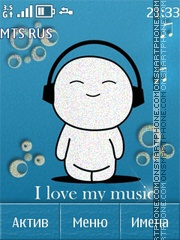I love music theme screenshot