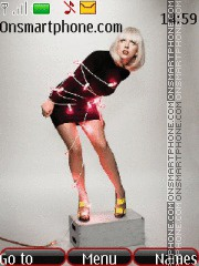 Скриншот темы Lady Gaga 09
