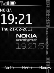Nokia Carbonic theme screenshot