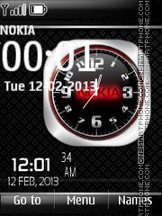 Nokia Dual Clock 09 theme screenshot